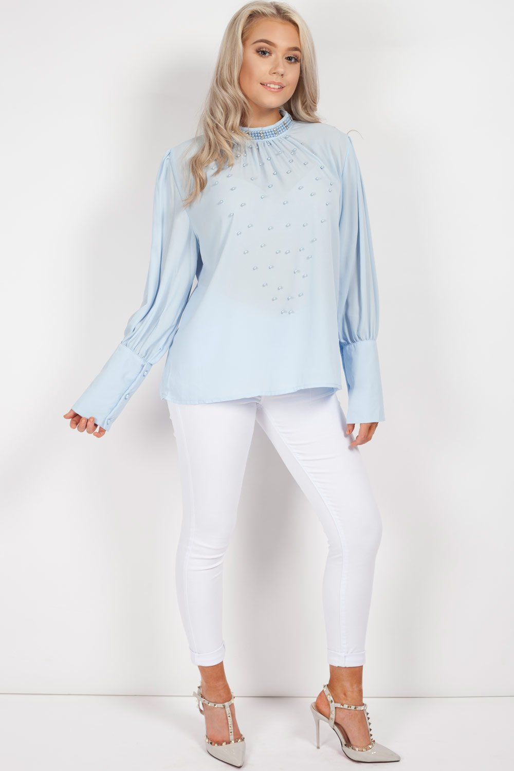diamante long sleeve blouse