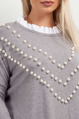 pearl jumper shirt