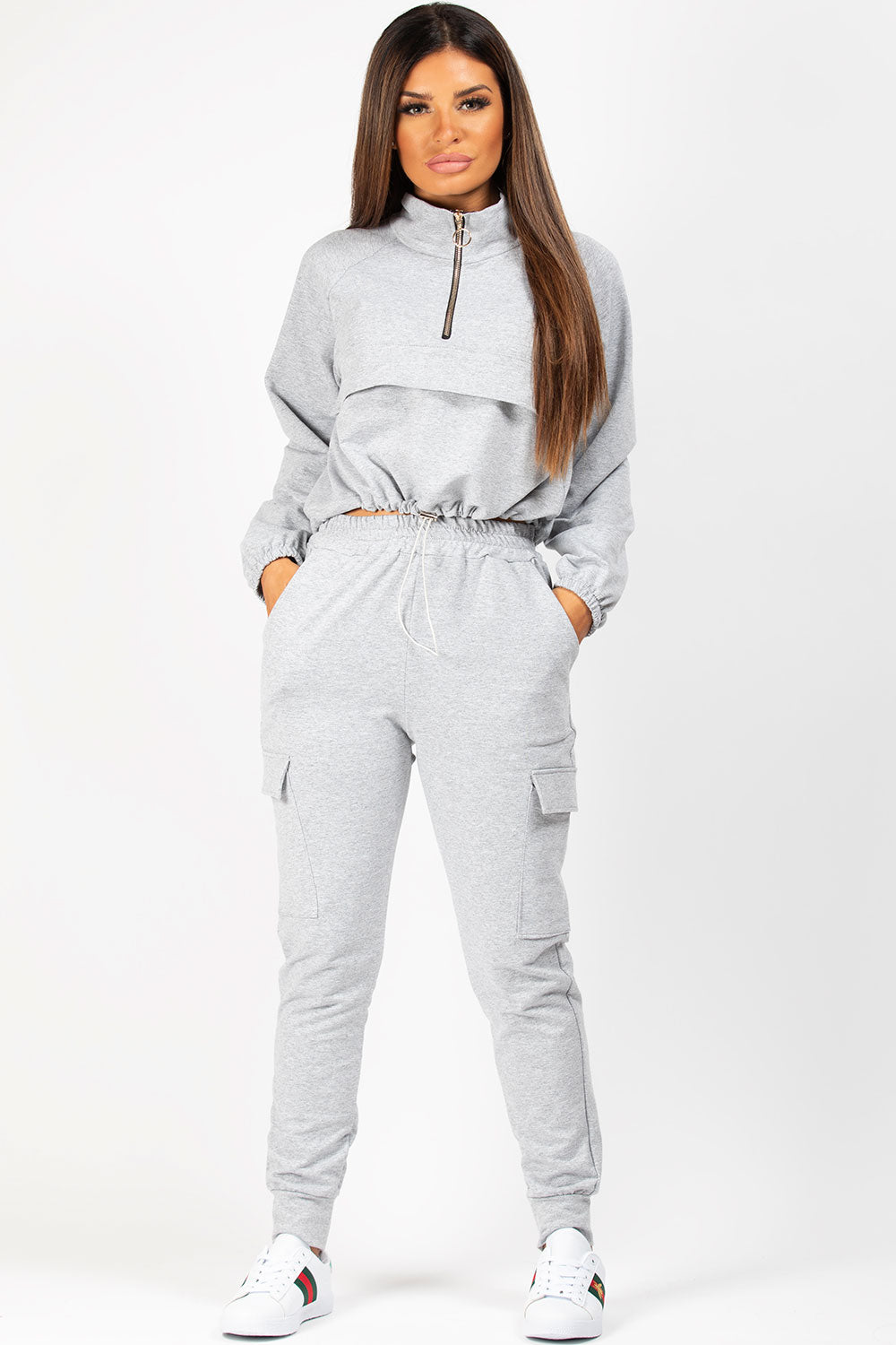 Grey Oversized Sweatshirt And Joggers Lounge Set