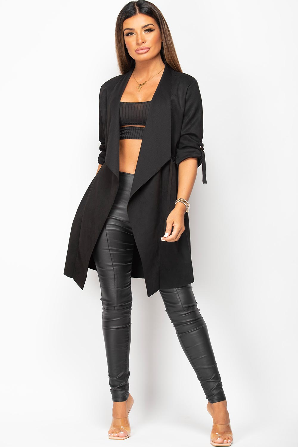 black duster jacket womens