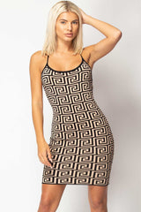 knitted bodycon mini dress
