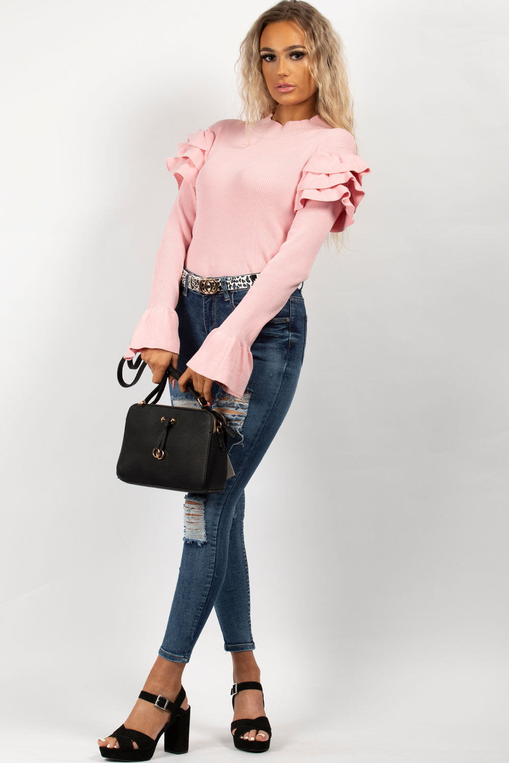 pink long sleeve jumper