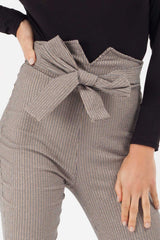 check print high waisted trousers styledup fashion