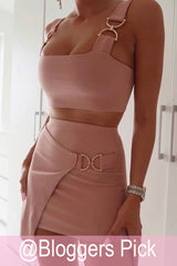 skirt and top two piece set