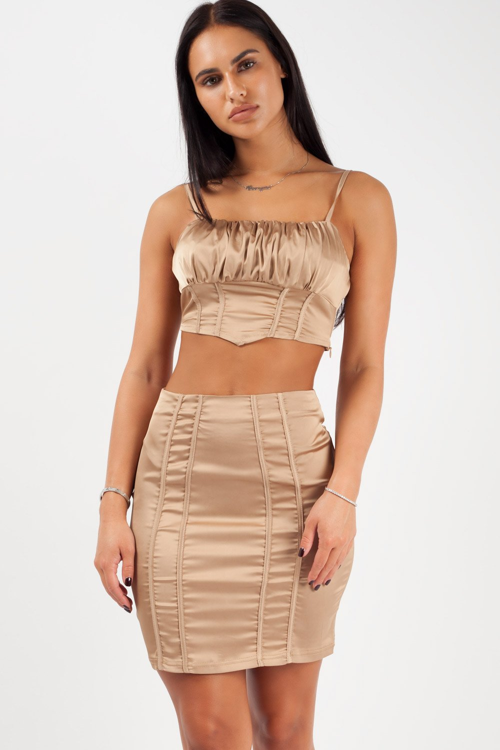 gold two piece set styledup fashion