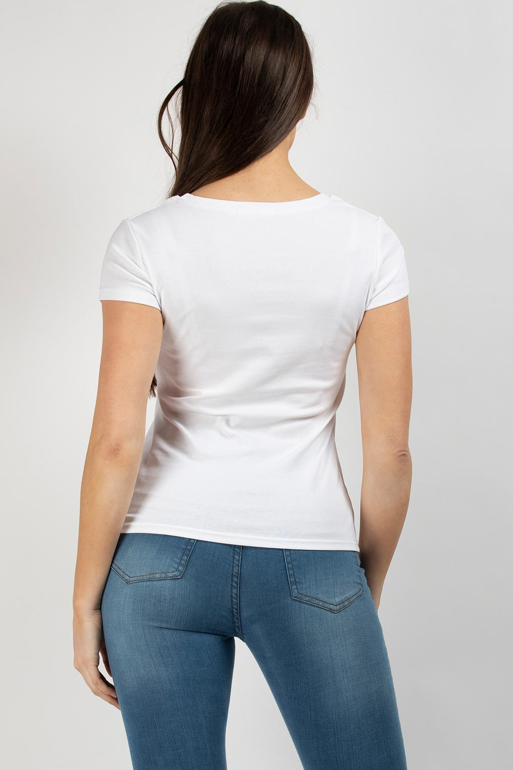 white balmain inspired t shirt womens