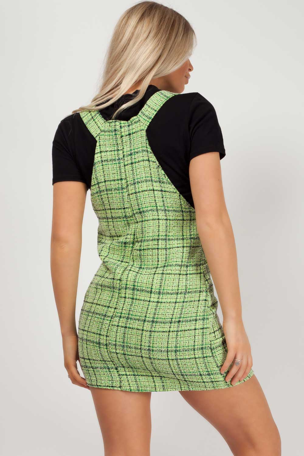 green pinafore dress styledup fashion
