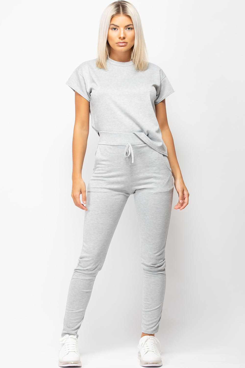 womens grey loungewear set uk