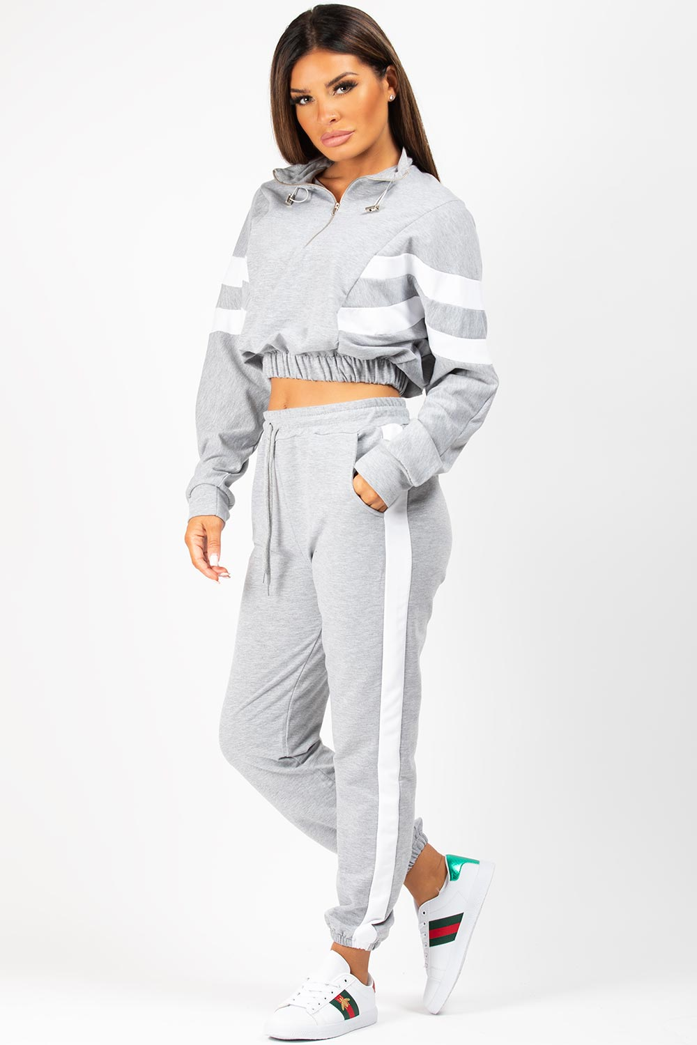 elasticated waist sweatshirt and joggers set