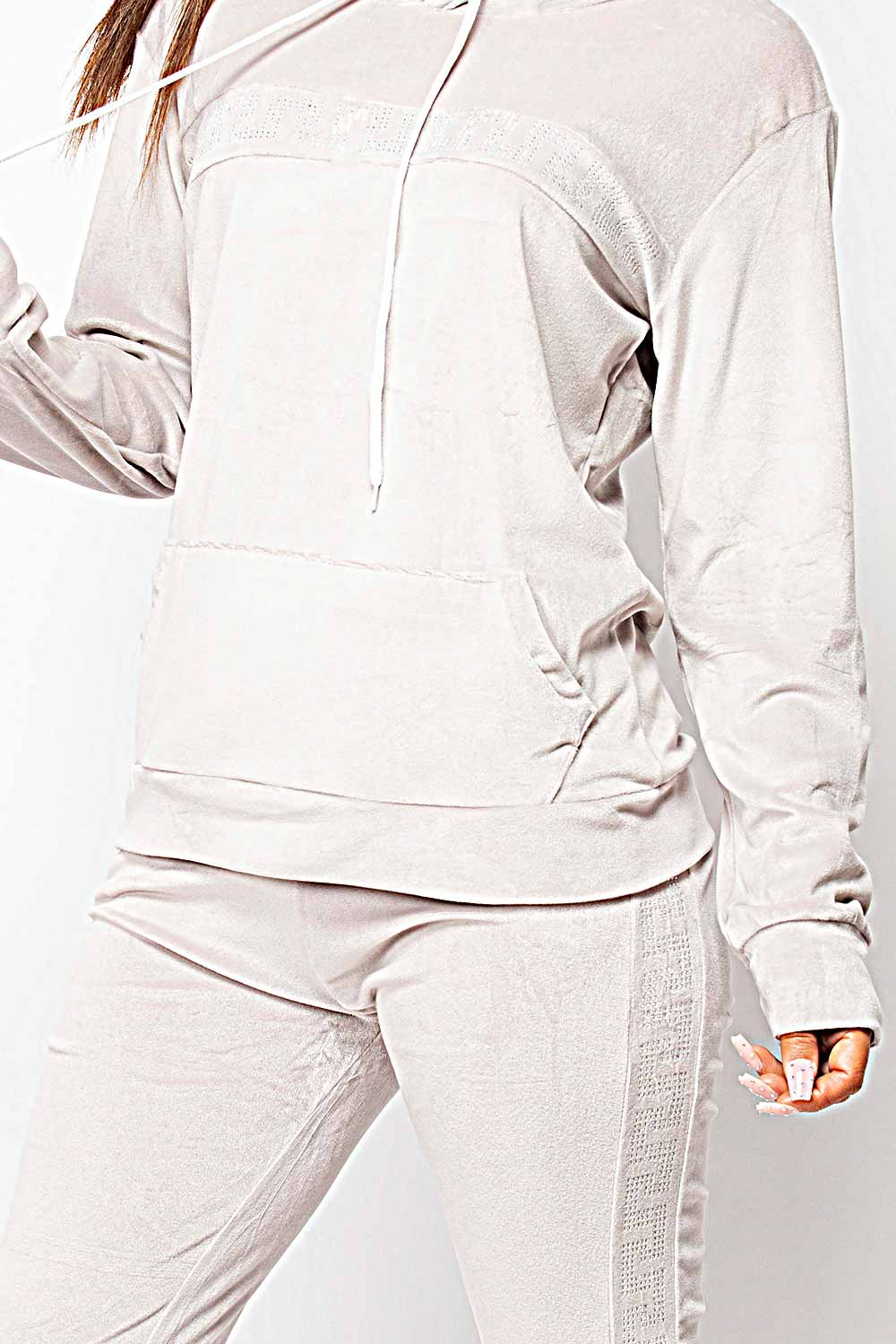 velour tracksuit set womens