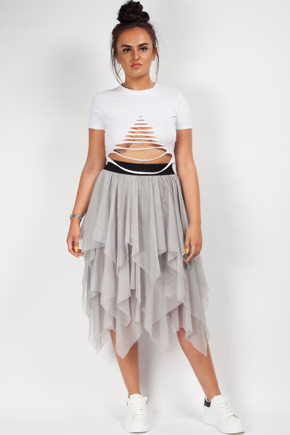 tulle midi skirt on sale uk