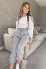 grey joggers womens
