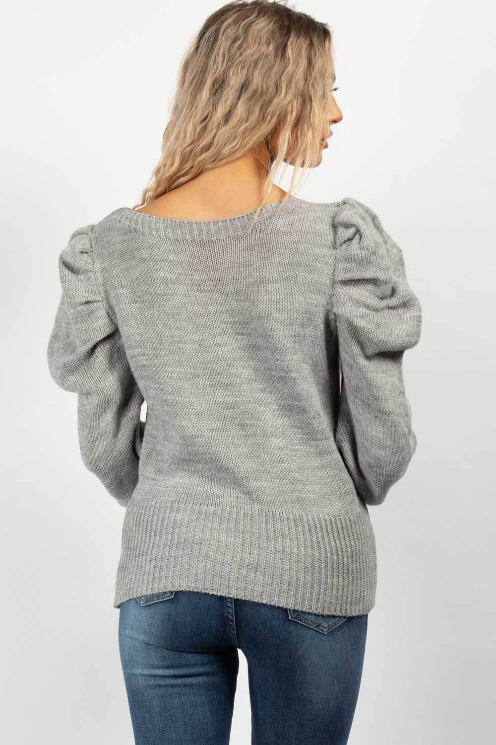 grey long sleeve jumper