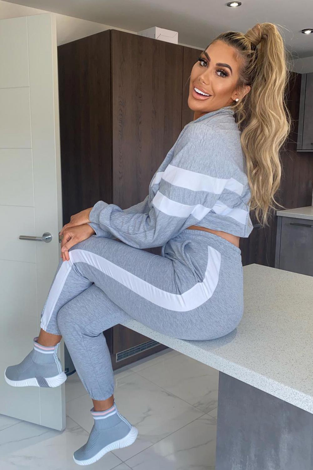 grey loungewear set styledup fashion