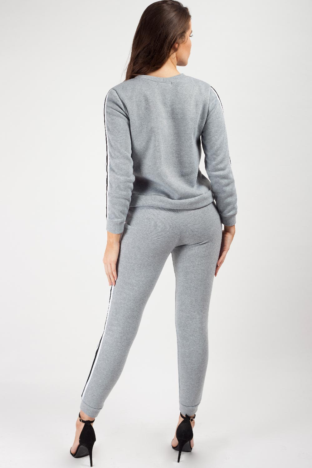 grey two piece tracksuit set womens