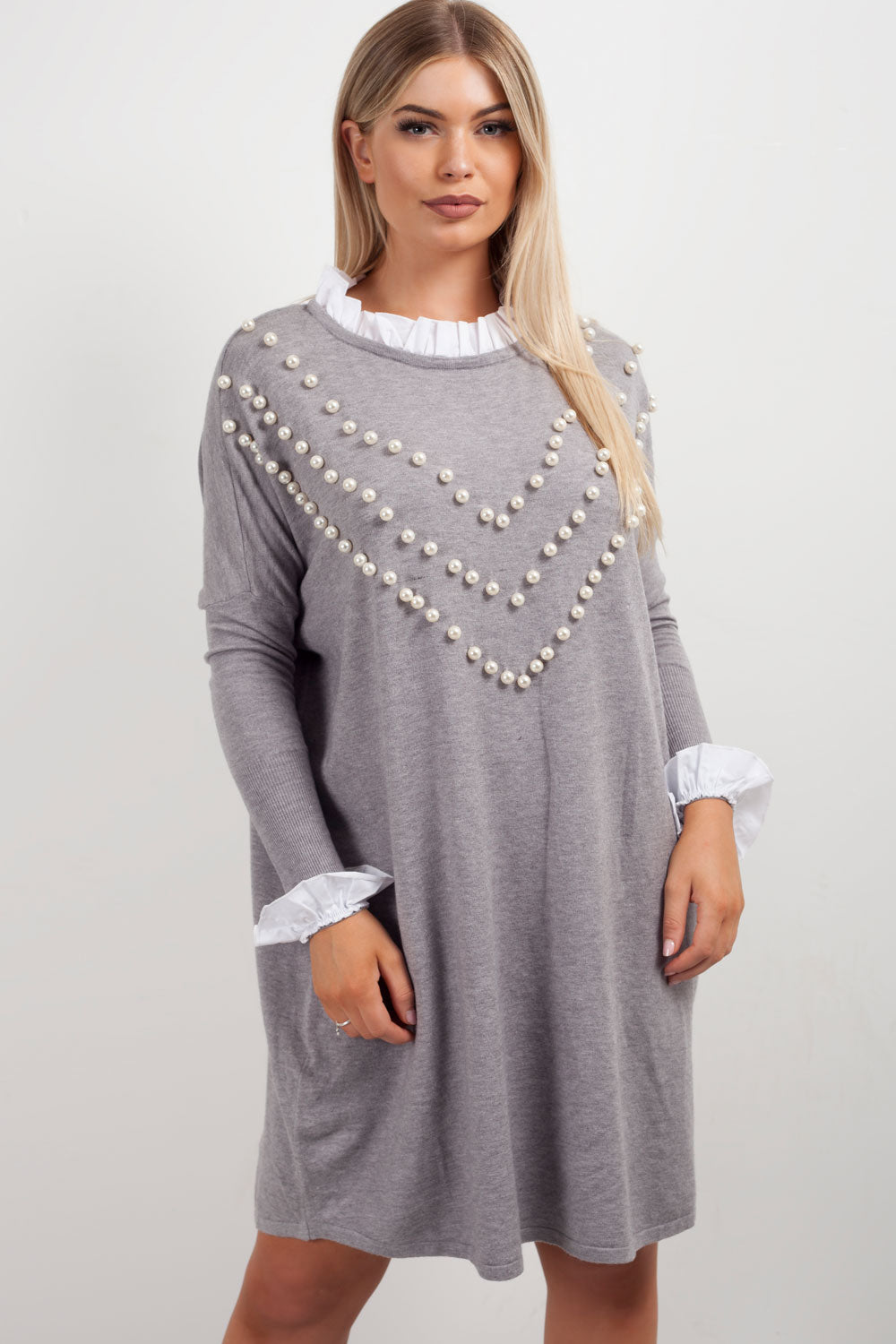 oversized jumper shirt grey