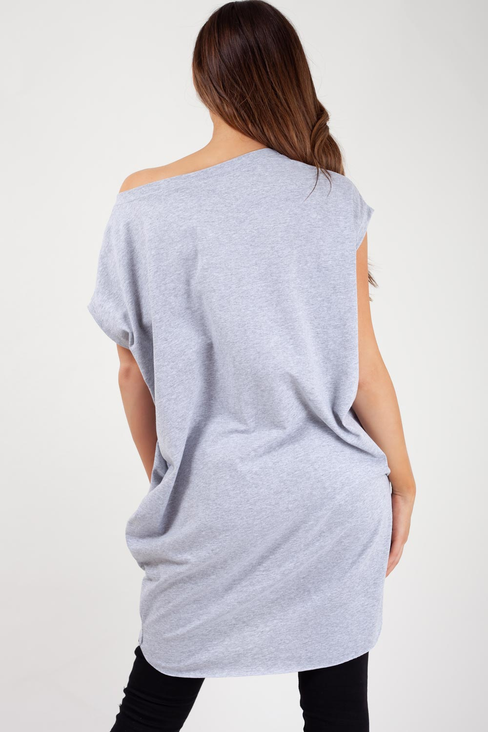 grey oversized womens t shirt made in italy