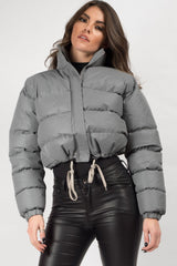 reflective crop jacket womens uk