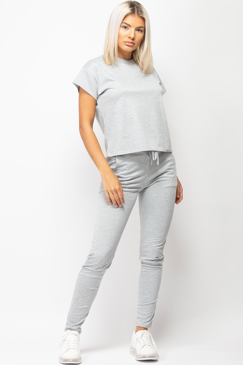 womens loungewear set grey