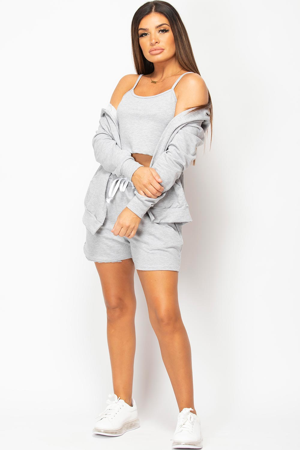three piece lounge set grey