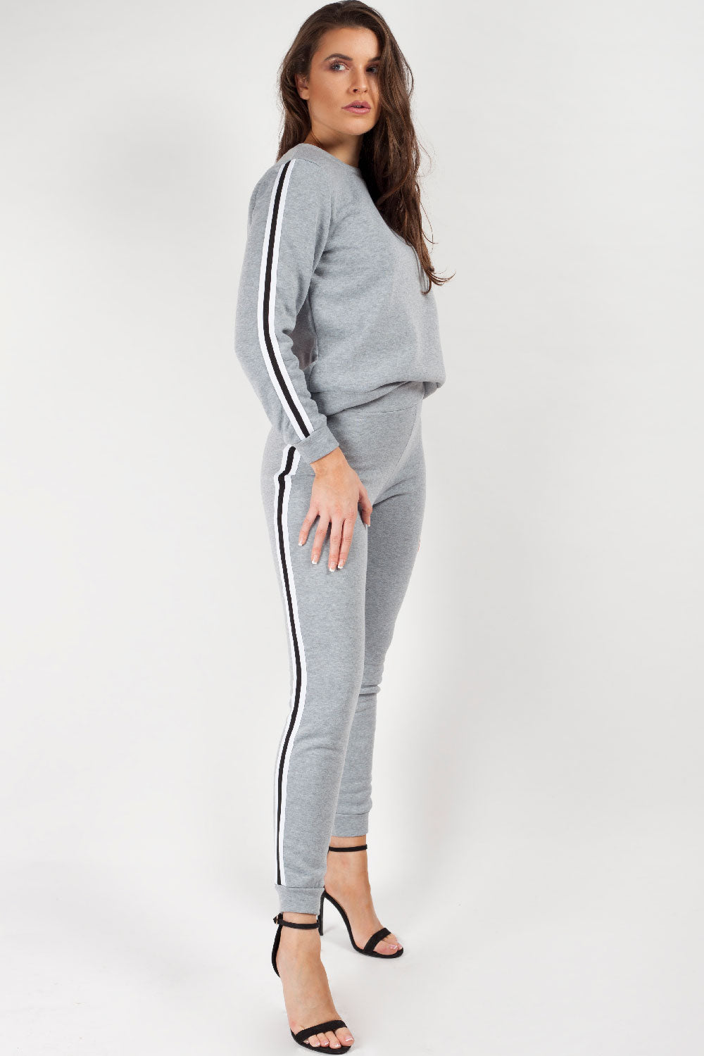 womens side stripe loungewear set