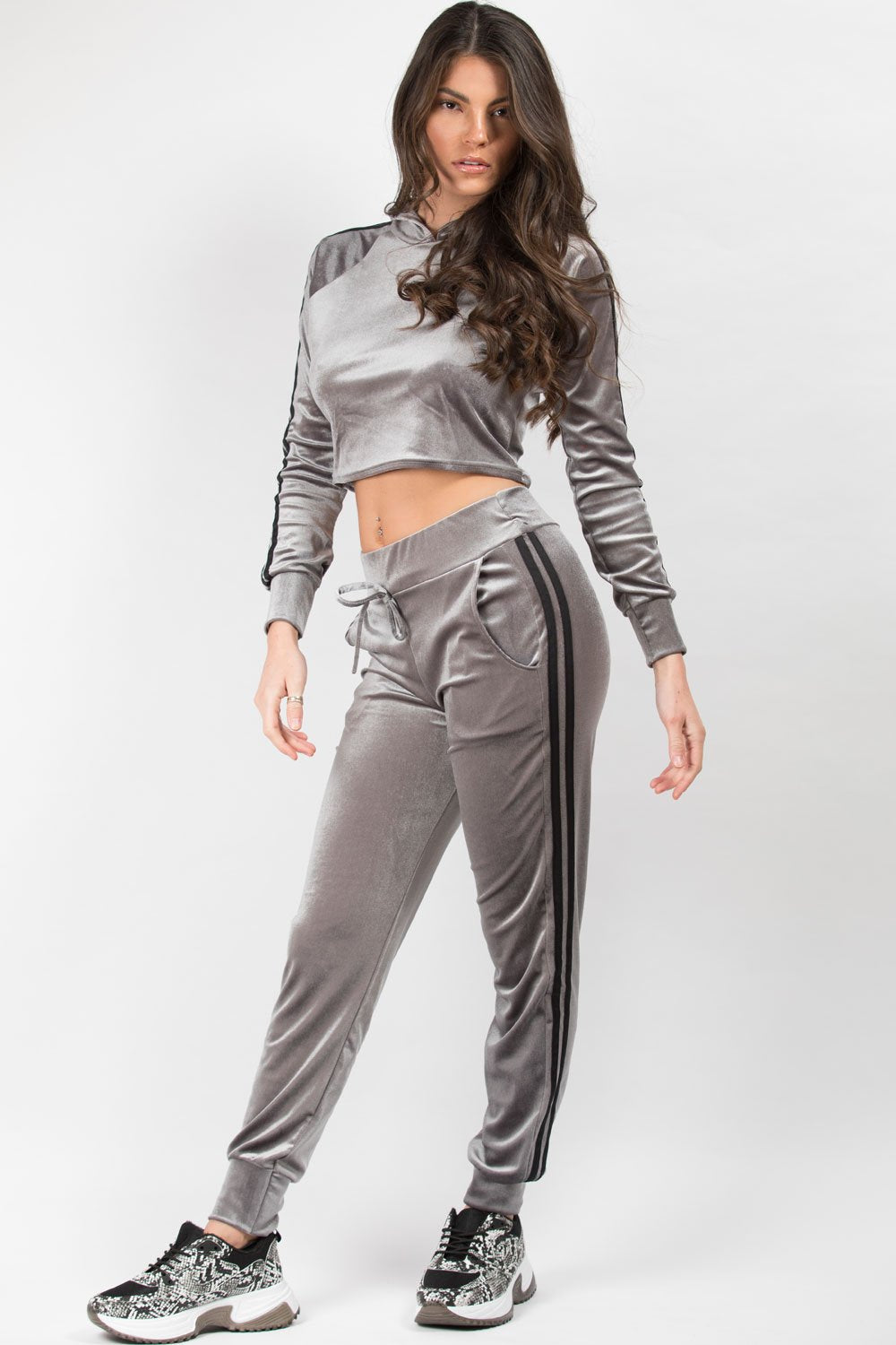 grey loungewear set womens