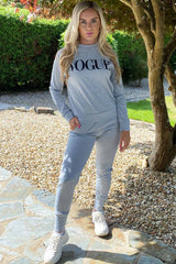 grey vogue loungewear co ord set