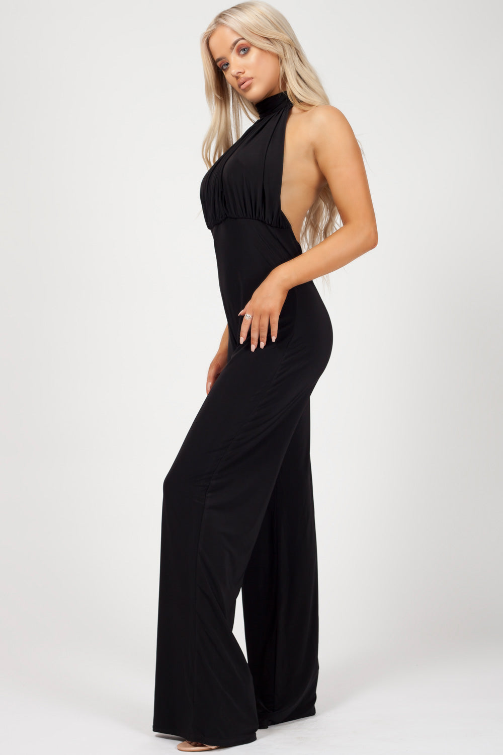 special occasion jumpsuit black