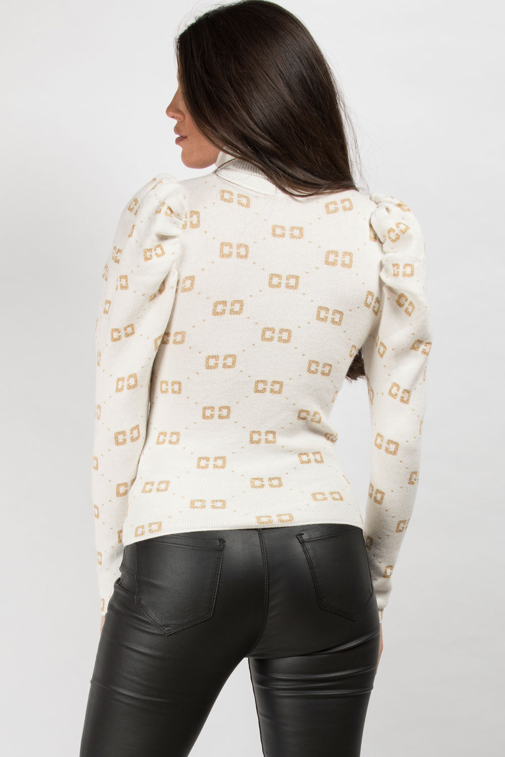 cream high neck jumper