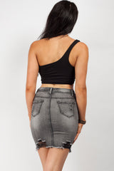 stretch denim skirt uk