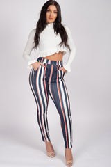 womens stripe trousers