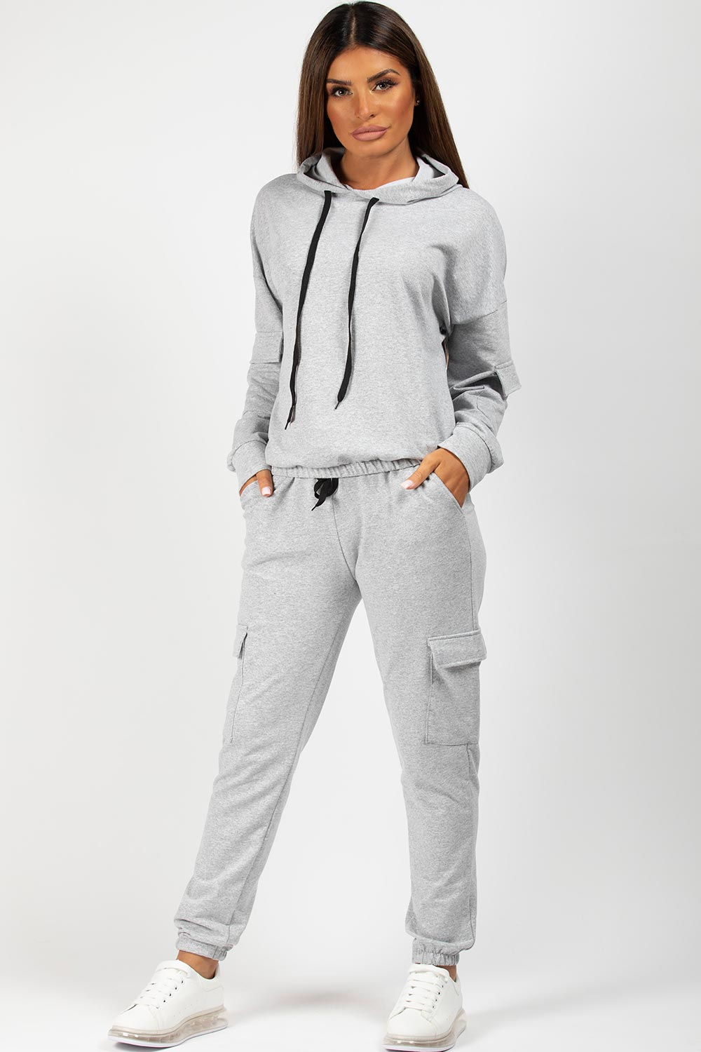 grey hoodie and joggers set