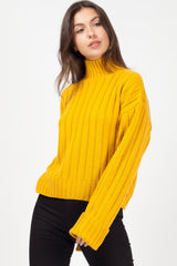 chunky knit jumper mustard uk