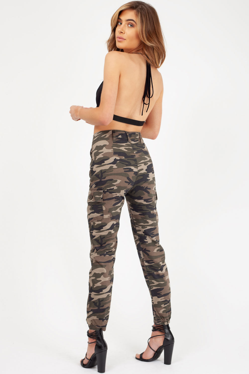 camo print cargo trousers womens