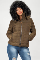 womens faux fur hood coats sale