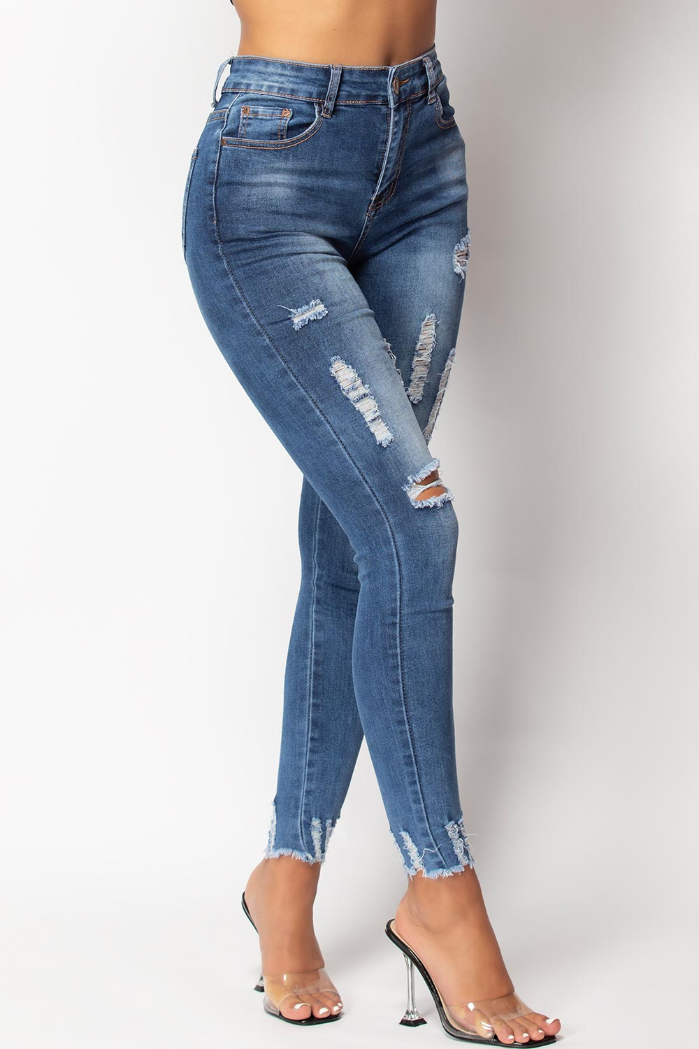 womens ripped jeans uk