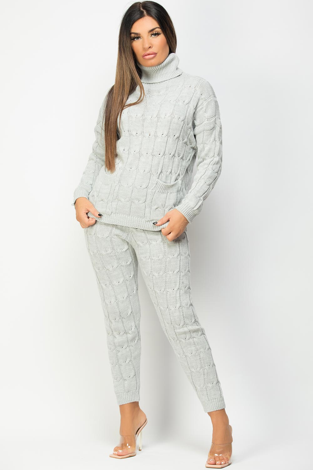 knitted leggings and jumper co ord set