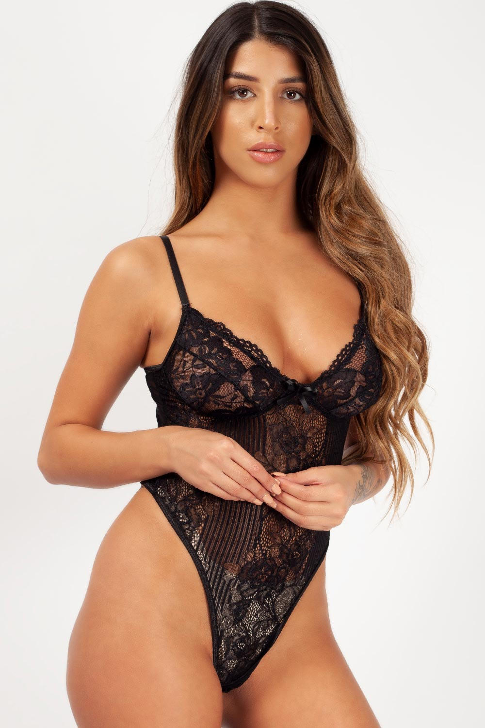 lace bodysuit black uk styledup fashion