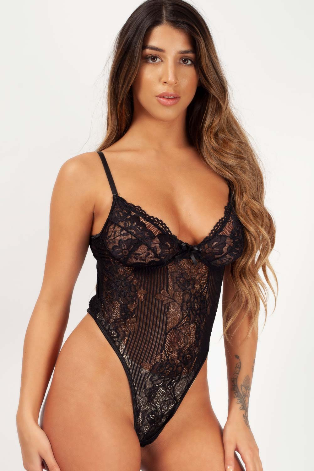 black lace bodysuit styledup fashion