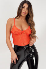 thong bodysuit orange styledup fashion