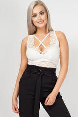 white lace crop top uk