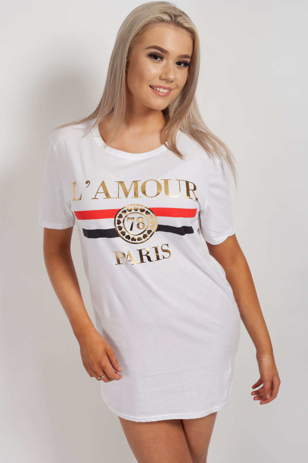 lamour paris white top womens
