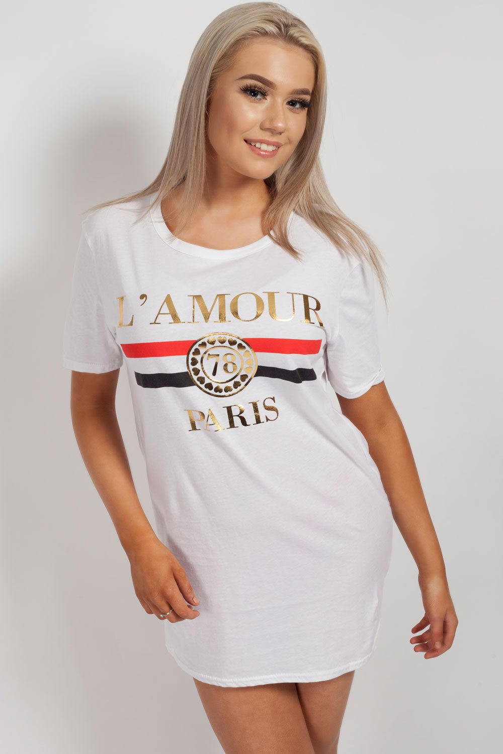 lamour paris top white