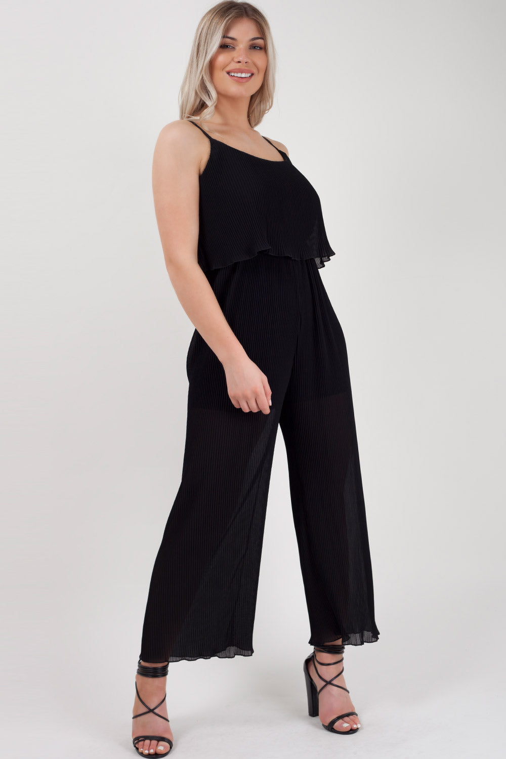 8ccd29aab4 Black Wide Leg Layered Jumpsuit – Styledup.co.uk