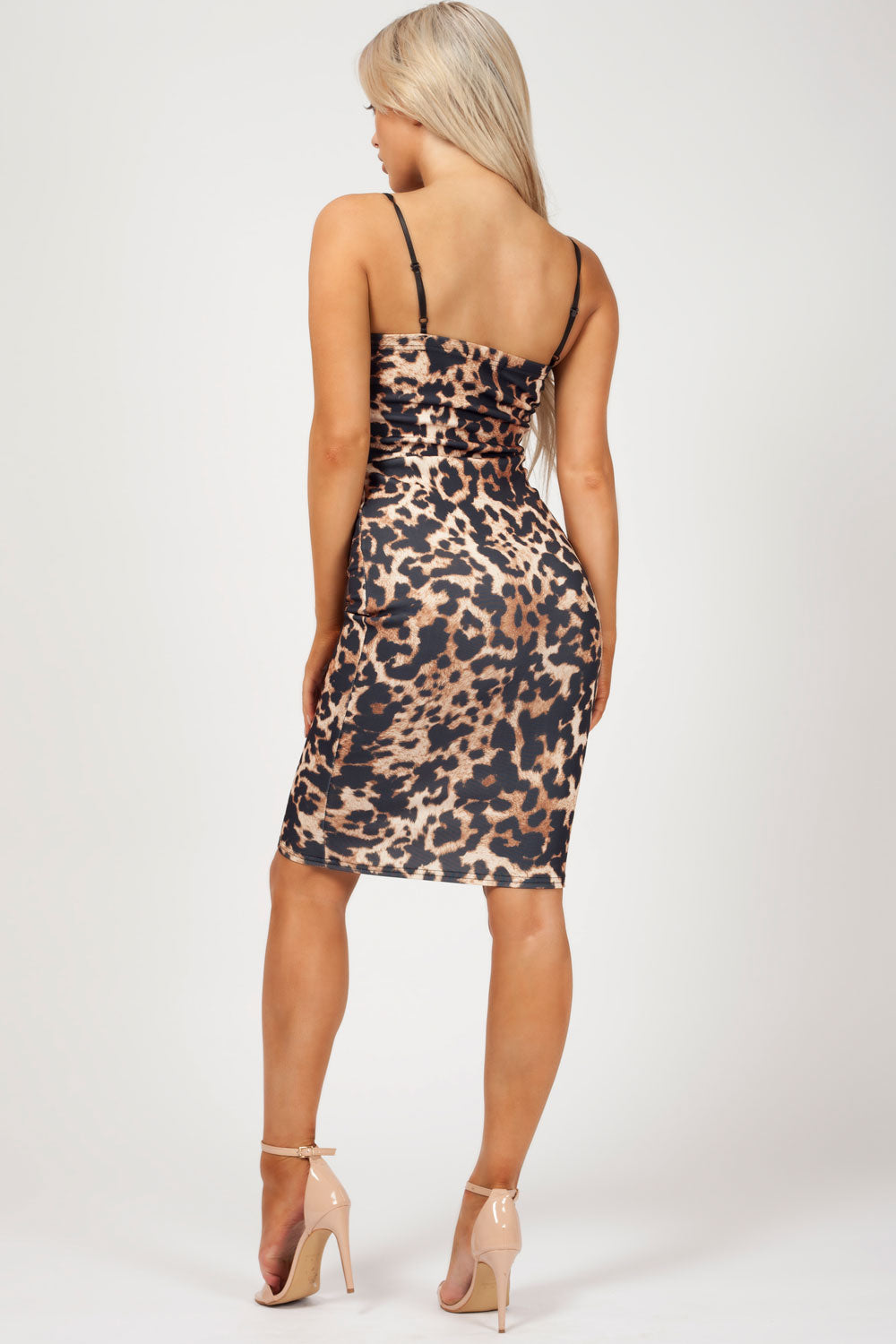 uk size 6 animal print dress