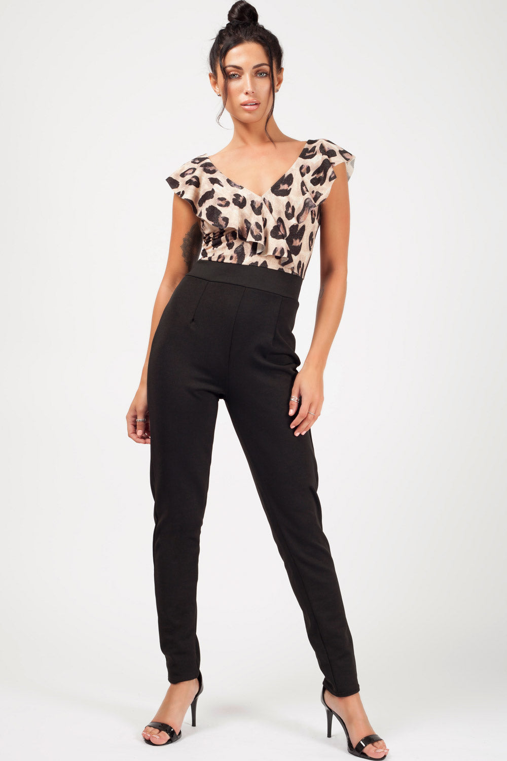 occasion jumpsuit animal print