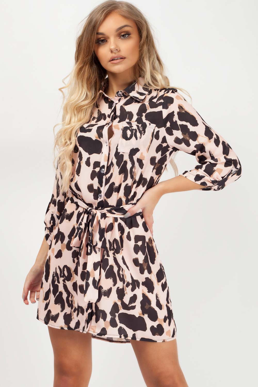 shirt dress animal print