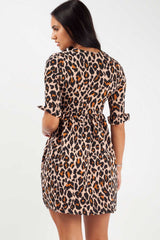 animal print mini skater dress styledup fashion