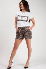 slogan t shirt and shorts two piece set styledup fashion