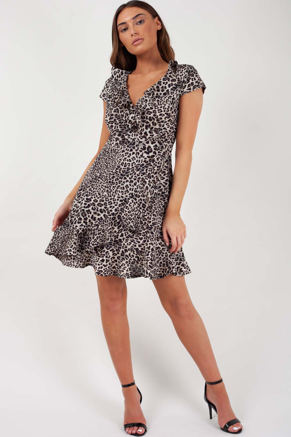 leopard wrap dress uk